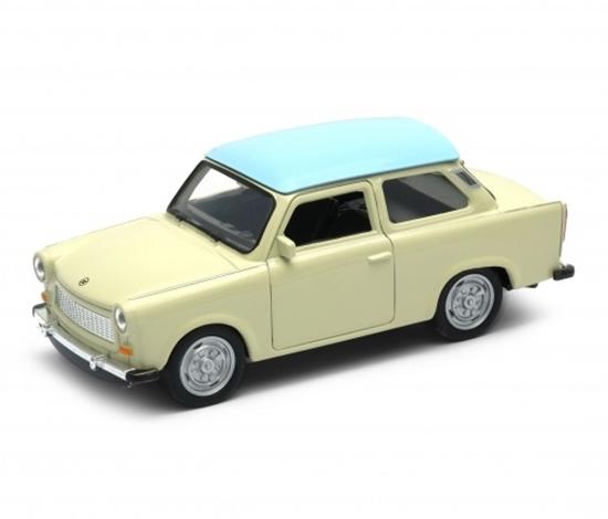 WELLY 1:34 Trabant 601 - kremowy z niebieskim dachem