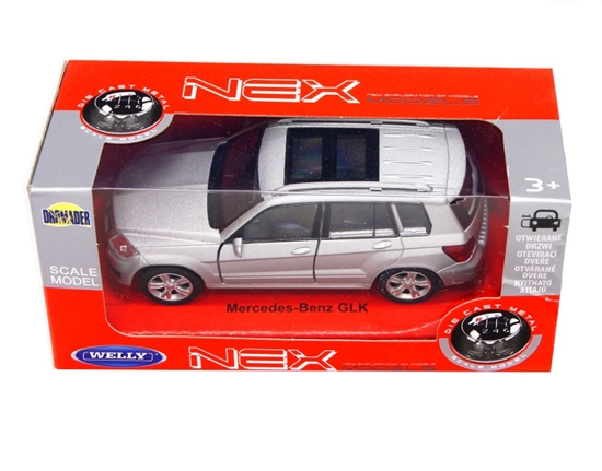 Welly 1:34 Mercedes-Benz GLK - srebrny