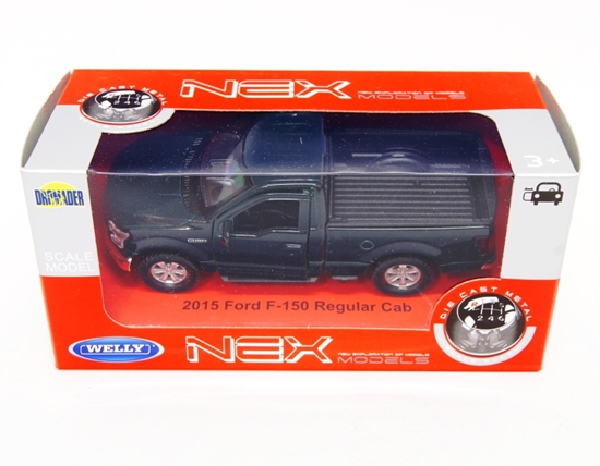 WELLY 1:34 Ford F-150 Regular Cab 2015 - ciemno zielony
