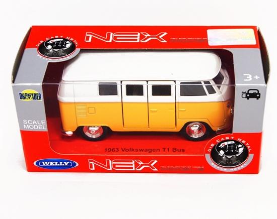Welly 1:34 VW Volkswagen bus T1 1963 -żółty