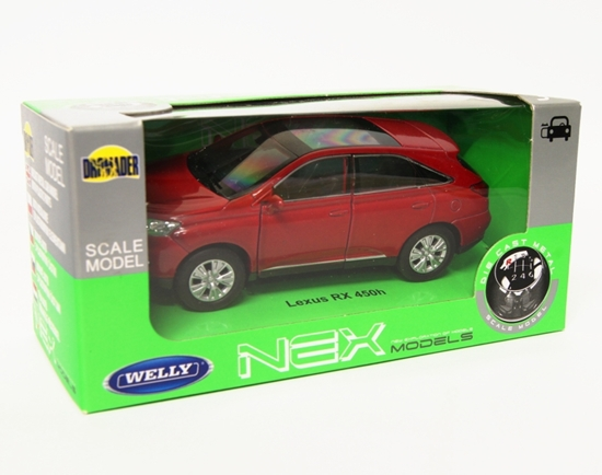 Welly 1:34 Lexus RX 450H - czerwony