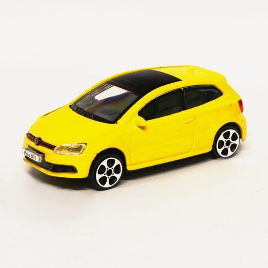 Bburago 30233 Volkswagen Polo GTI Mark 5 1:43 - żółty