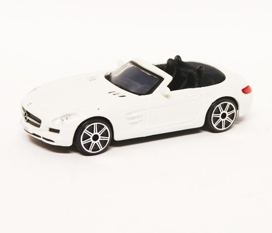 Bburago 30241 Mercedes-Benz SLS AMG Roadster 1:43 -biały