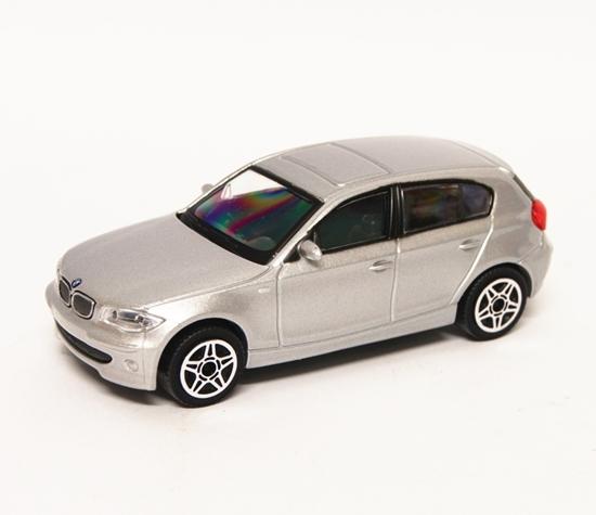 Bburago 30181 BMW Series 1 1:43 - srebrny