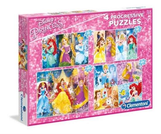 Clementoni Puzzle 20+60+100+180 Princess 07721 p6, cena za 1szt. (07721 CLEMENTONI)