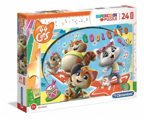 Puzzle 24 elementy Maxi Super Kolor 44 Koty (28512 CLEMENTONI)