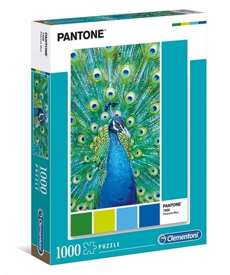 Puzzle 1000 elementów Pantone - Niebieski paw (GXP-684349)