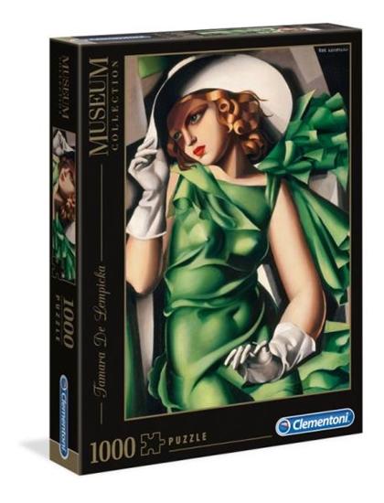 Clementoni Puzzle 1000el Museum Modern Art Tamara Łempicka Młoda dziewczyna w zielonej 39332 p6, cena za 1szt. (39332 CLEMENTONI)