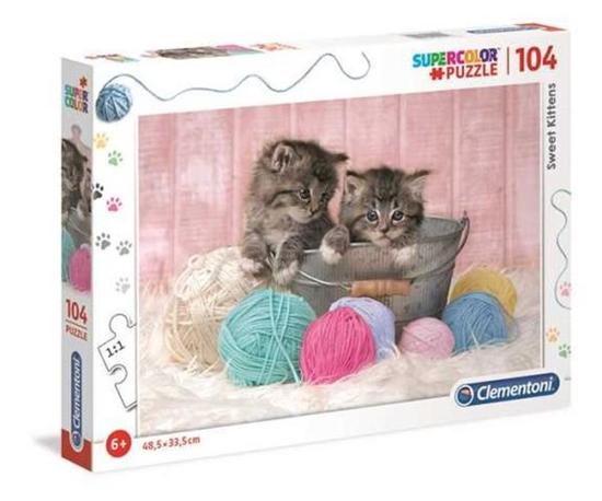 Clementoni Puzzle 104el Sweet Kittens 27115 (27115 CLEMENTONI)