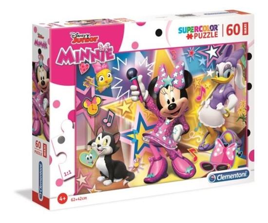 Clementoni Puzzle 60el MAXI SUPER KOLOR  Minnie i raźni rajdowcy 26443 p6 (26443 CLEMENTONI)