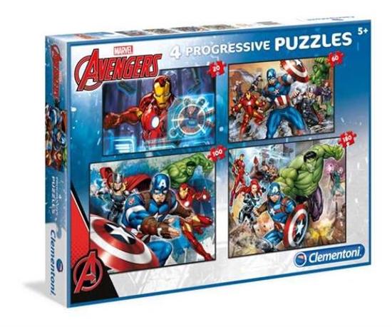 Clementoni Puzzle 20+60+100+180 The Avengers 07722 p6, cena za 1szt. (07722 CLEMENTONI)