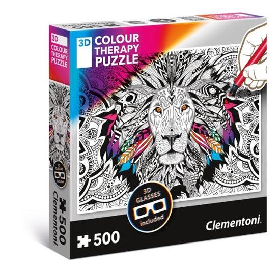 Clementoni Puzzle 3D Color Therapy - Lew 35051 p6, cena za 1szt. (35051 CLEMENTONI)
