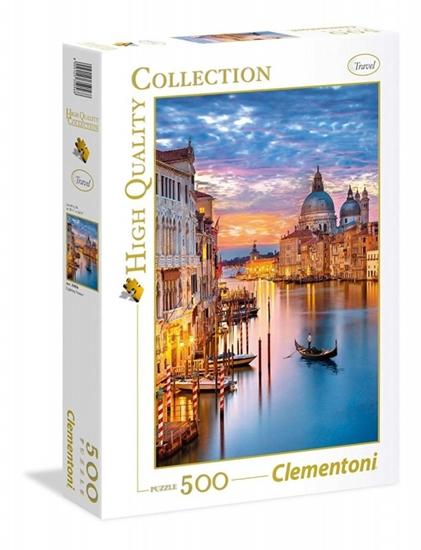 Puzzle 500 elementów High Quality - Oświetlona Wenecja (35056 CLEMENTONI)