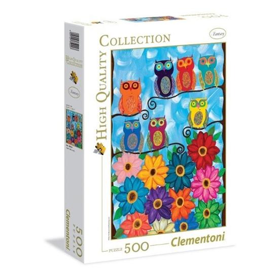 CLEMENTONI 500 EL. Cute little owls (35024)