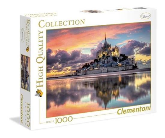 Clementoni Puzzle 1000el HQ  Le Magnifique Mont Saint-Michel 39367 p6, cena za 1szt. (39367 CLEMENTONI)