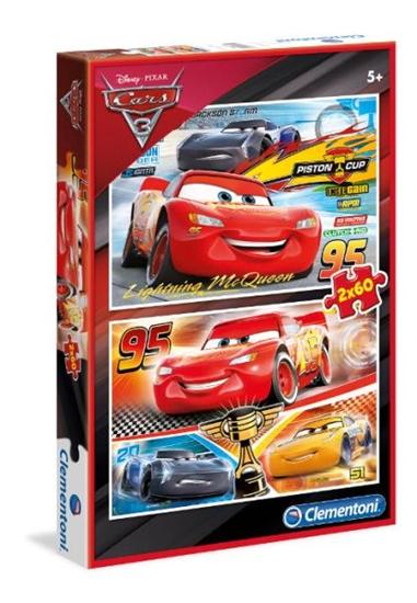 Clementoni Puzzle 2x60el Cars 3 07131 p6, cena za 1szt. (07131 CLEMENTONI)