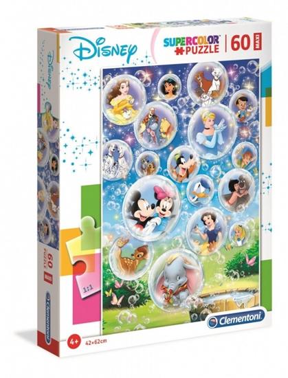 Puzzle 60 elementów Maxi Super Kolor Disney Classic (26448 CLEMENTONI)