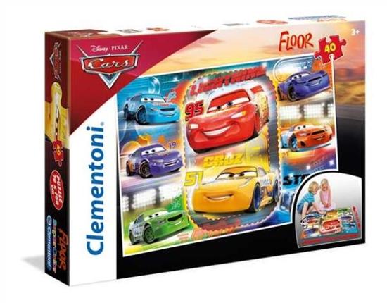 Clementoni Puzzle 40el Floor Cars 3 2018 25455 p6, cena za 1szt. (25455 CLEMENTONI)