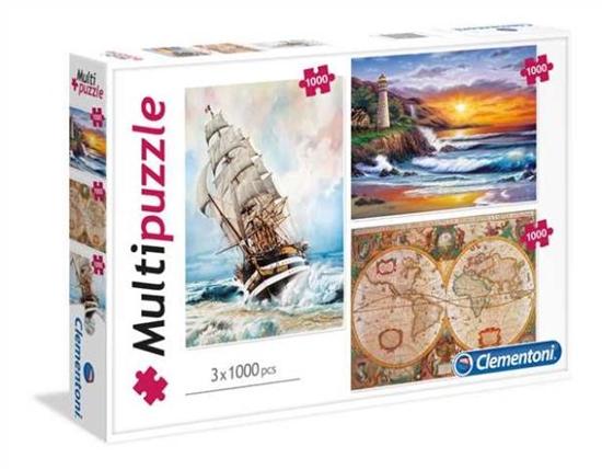 Clementoni Puzzle 3x1000 Adventure 08108 (08108 CLEMENTONI)