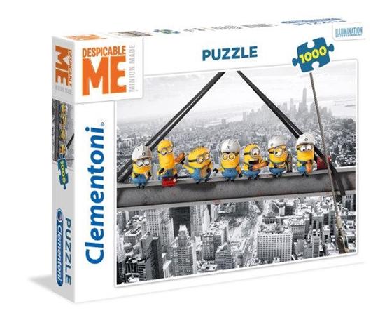 Clementoni Puzzle 1000el Minions atop a skyscraper 39370 p6, cena za 1szt. (39370 CLEMENTONI)