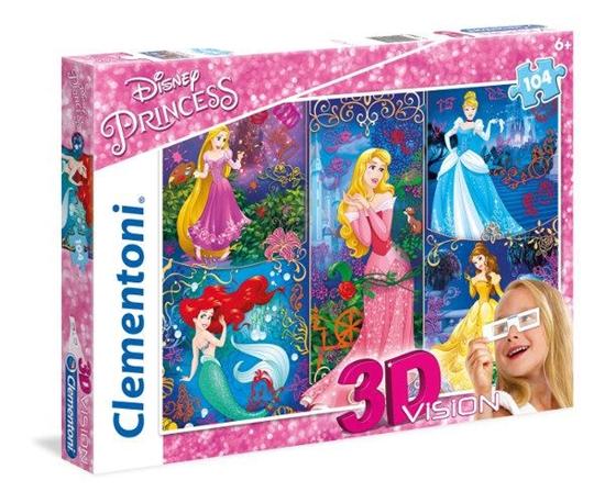 Clementoni Puzzle 104el 3D Princess 20609 (20609 CLEMENTONI)