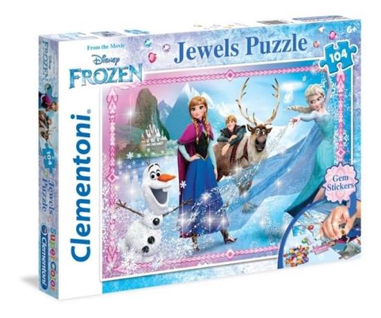 Clementoni Puzzle 104el z ozdobami Frozen 20133 p6, cena za 1szt. (20133 CLEMENTONI)