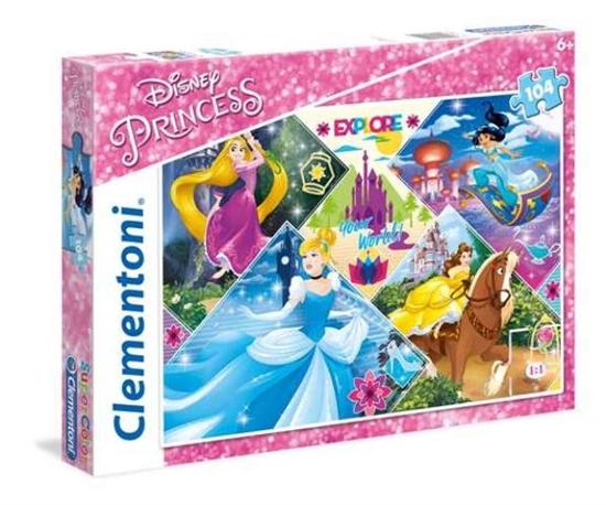 Clementoni Puzzle 104el Princess 27091 p6, cena za 1szt. (27091 CLEMENTONI)
