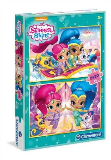 Clementoni Puzzle 2x20el Shimmer and Shine 07028 p6, cena za 1szt. (07028 CLEMENTONI)
