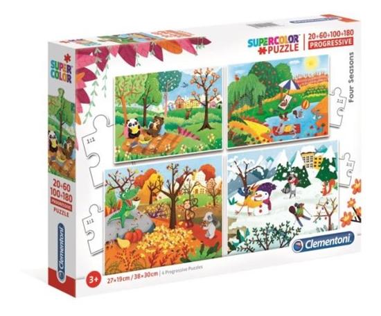 Clementoni Puzzle 20+60+100+180el 4 Pory roku 21408 p6 (21408 CLEMENTONI)