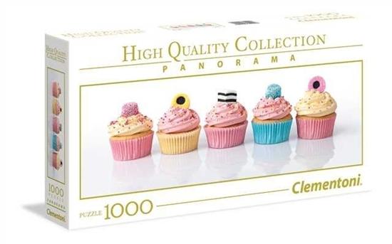 1000 elementów Panorama High Quaity Liquorice Cupcakes (39425 CLEMENTONI)