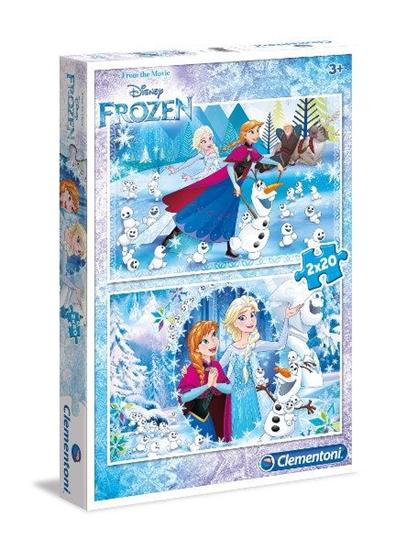 Clementoni Puzzle 2x20el Frozen 07030, p6 cena za 1szt. (07030 CLEMENTONI)