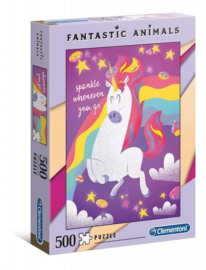 Puzzle 500 elementów Fantastic Animals - Jednorożec (35066 CLEMENTONI)