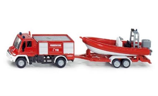 SIKU 1636 Straż pożarna Unimog z łódką (S1636)