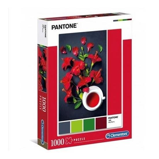 Puzzle 1000 elementów Pantone Czerwony hibiskus (39494 CLEMENTONI)
