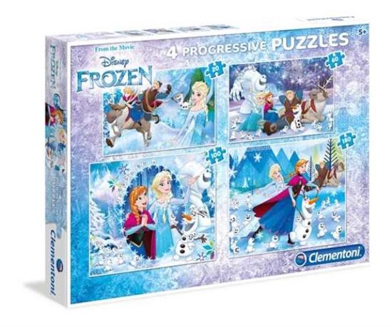 Clementoni Puzzle 20+60+100+180 Frozen 07723 p6, cena za 1szt. (07723 CLEMENTONI)