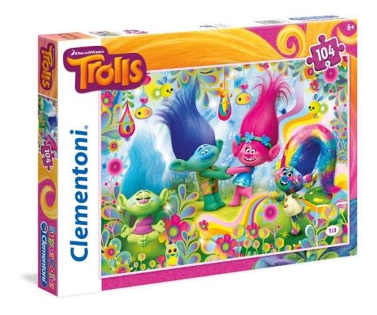 Clementoni Puzzle 104el Trolls 27967 p6, cena za 1szt. (27967 CLEMENTONI)