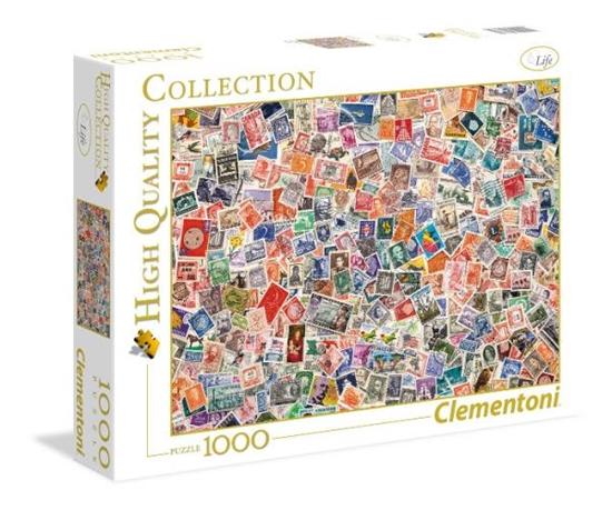 Clementoni Puzzle 1000el Znaczki 39387 (39387 CLEMENTONI)