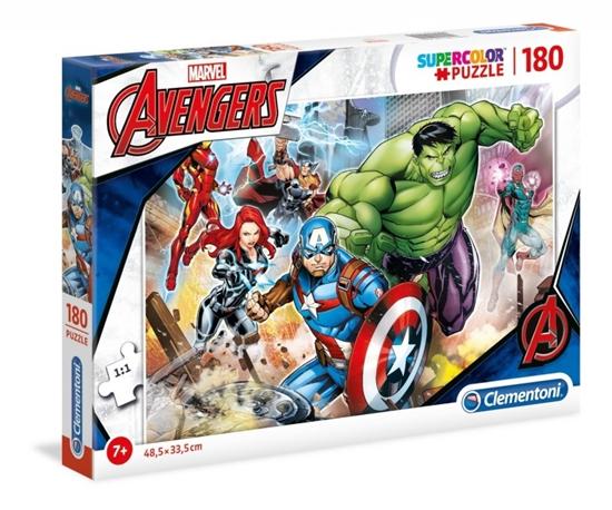 Puzzle 180 elementów Super Kolor - Avengers (29295 CLEMENTONI)