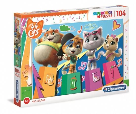 Puzzle 104 elementy Super Kolor 44 koty (27271 CLEMENTONI)