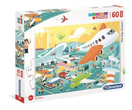 Clementoni Puzzle 60el MAXI SUPER KOLOR  Wielkie lotnisko 26447 p6 (26447 CLEMENTONI)