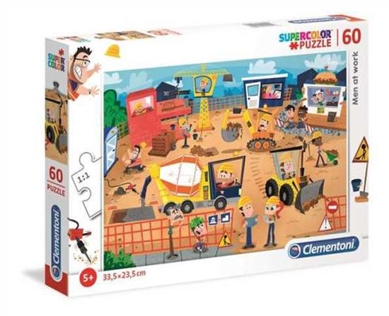 Clementoni Puzzle 60el SUPER KOLOR Ludzie w pracy 26990 p6 (26990 CLEMENTONI)