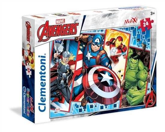 24 elementy MAXI Super Kolor Avengers (24495 CLEMENTONI)