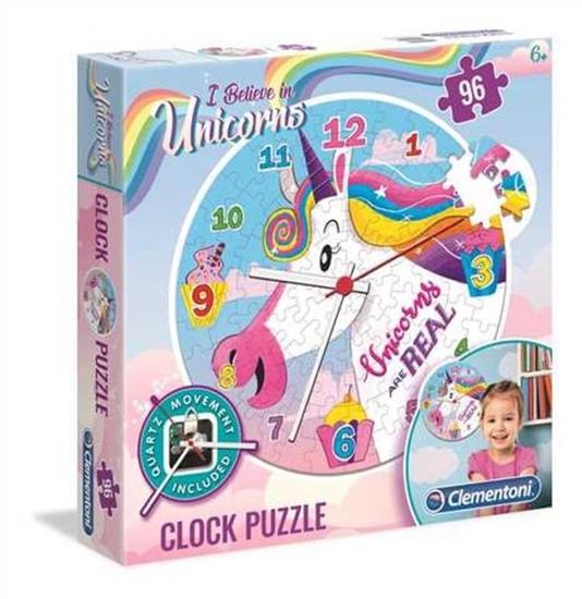 Clementoni Puzzle 96el Zegar z jednorożcem 23035 p6 (23035 CLEMENTONI)