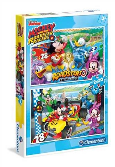 Clementoni Puzzle 2x20el Mickey and the Roadster Racers 07034 p6, cena za 1szt. (07034 CLEMENTONI)
