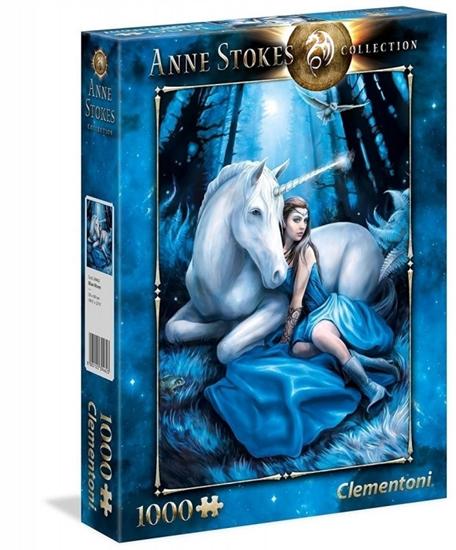 Puzzle 1000 elementów Anne Stokes Niebieski księżyc (39462 CLEMENTONI)