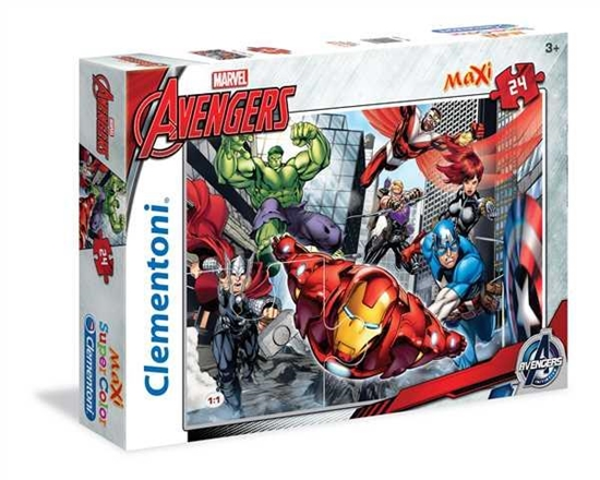 Clementoni Puzzle 24el Maxi The Avangers 24036 p6, cena za 1szt. (24036 CLEMENTONI)