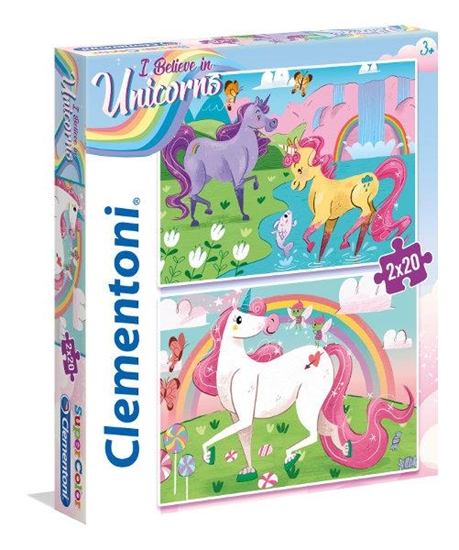 Clementoni Puzzle 2x20el I Believe in Unicorns 24754 p6, cena za 1szt. (24754 CLEMENTONI)