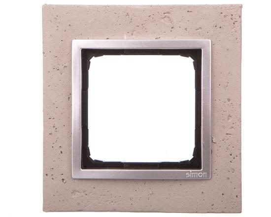 Simon 54 Nature Ramka pojedyncza beton - BUTTI CEMENTI DRN1/92