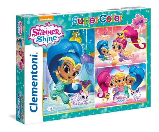 Clementoni Puzzle 3x48el Shimmer i Shine 25218 p6, cena za 1szt. (25218 CLEMENTONI)