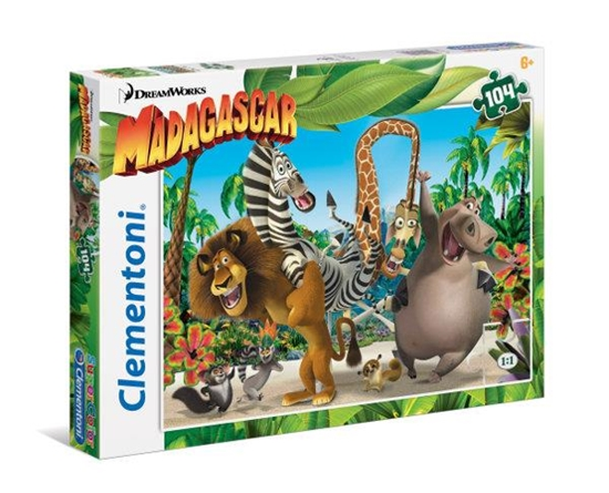 Clementoni Puzzle 104el Madagaskar 27941 (27941 CLEMENTONI)